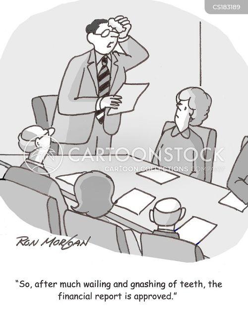 business reports cartoon