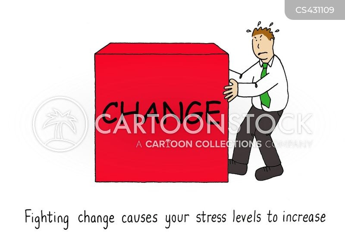 stress levels cartoon