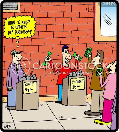 business models cartoon