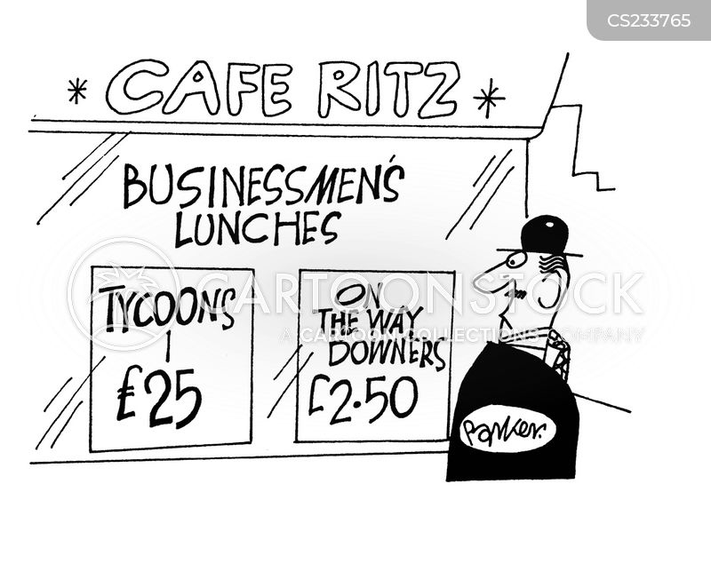 business tycoons cartoon
