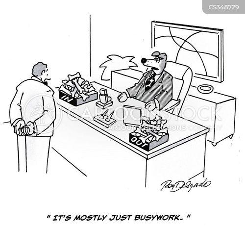 busywork cartoon