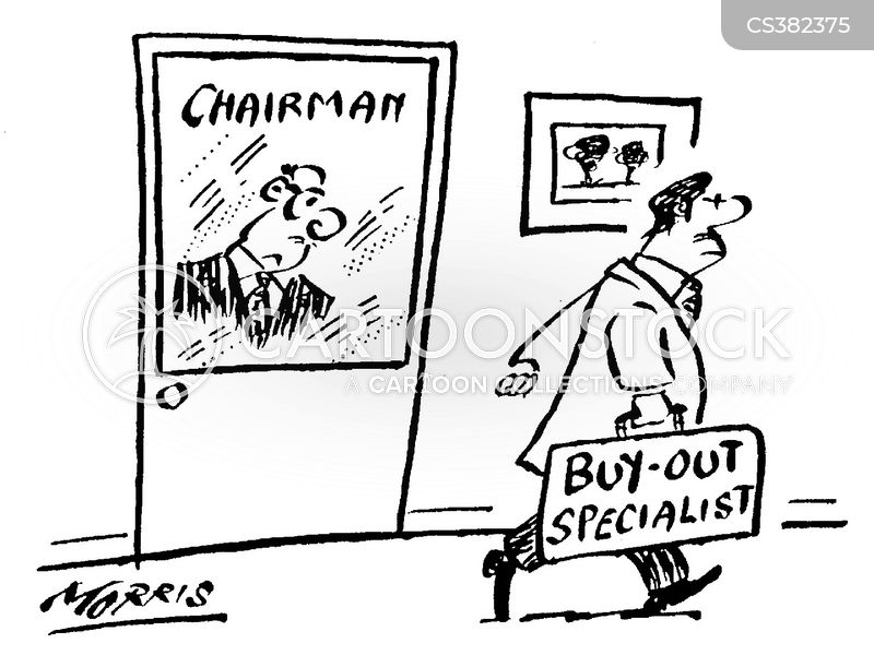 buy-out cartoon