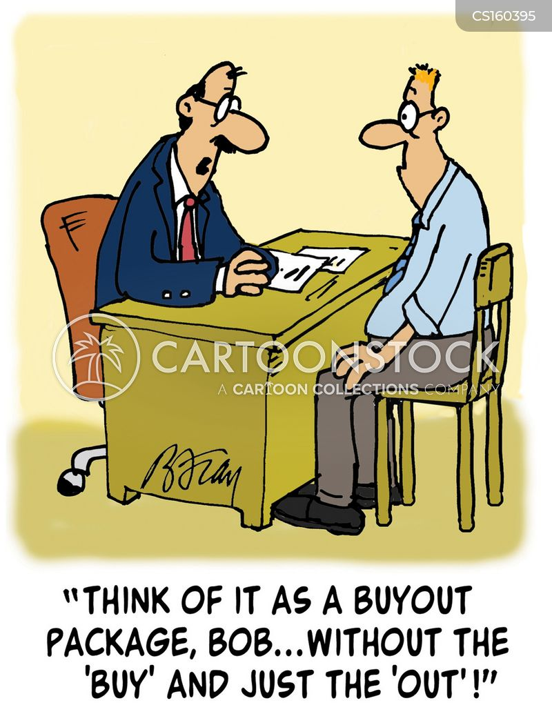 buyouts cartoon