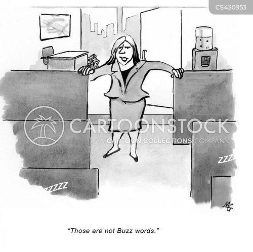 buzz word cartoon