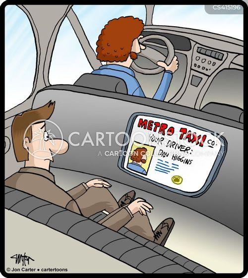 cab driver cartoon