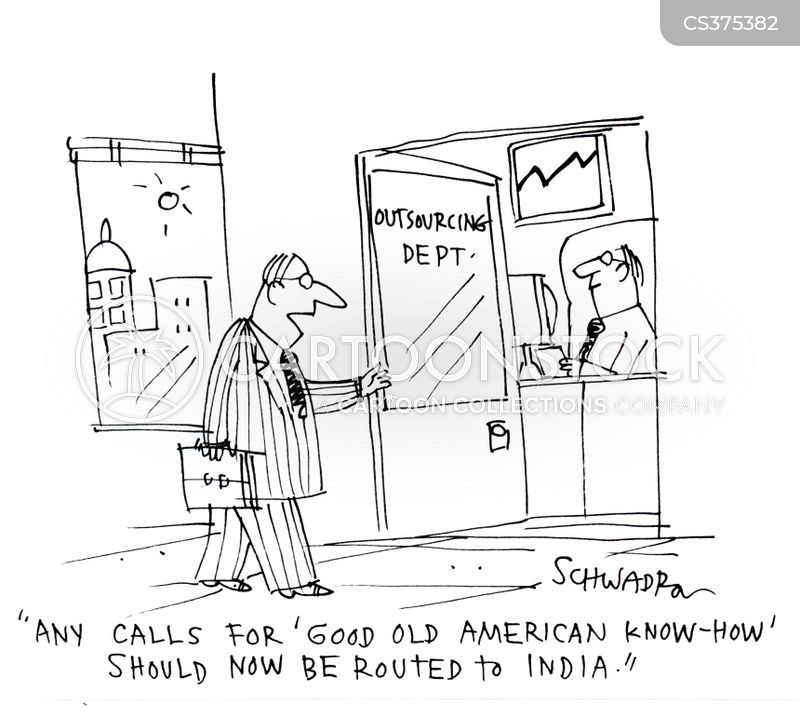out-sourcing cartoon
