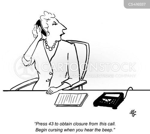 call lines cartoon