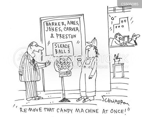 candy machines cartoon