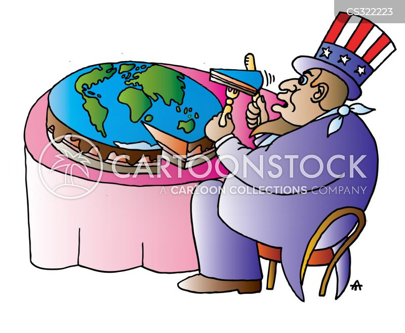 global crisis cartoon