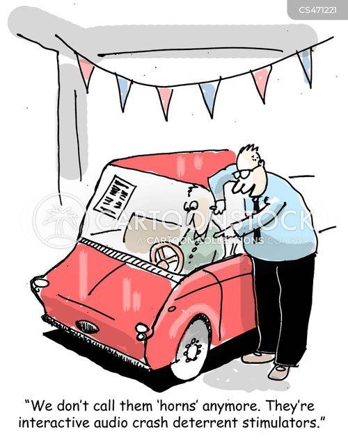 car horn cartoon