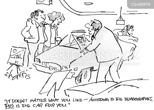 auto dealership cartoon