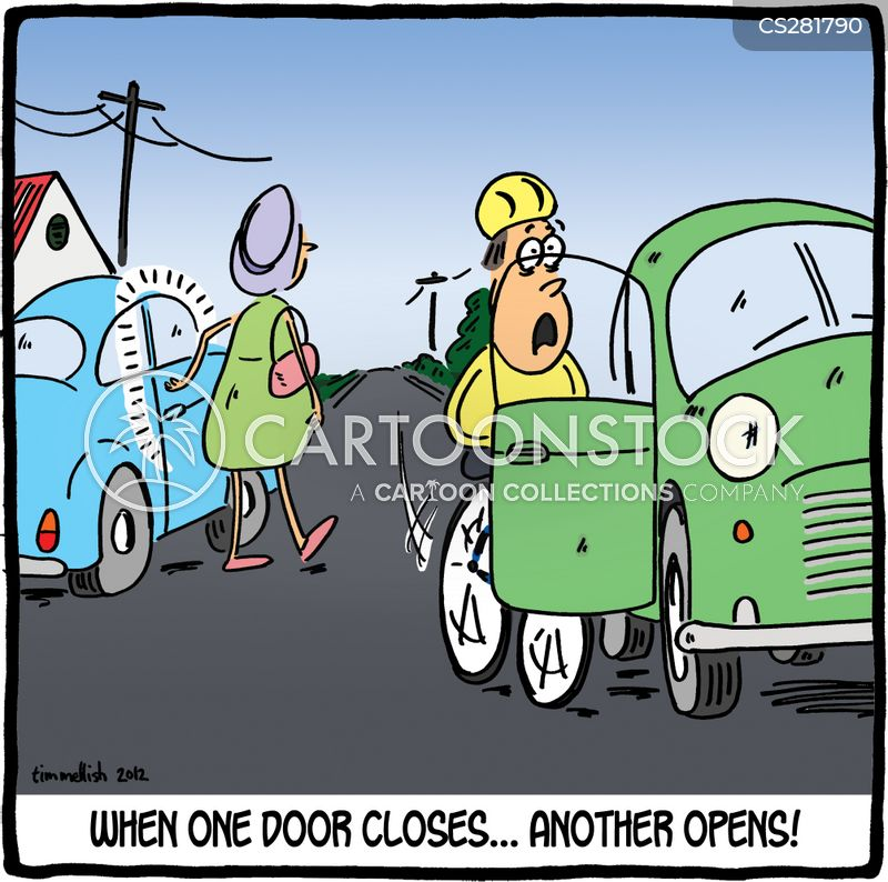 car doors cartoon