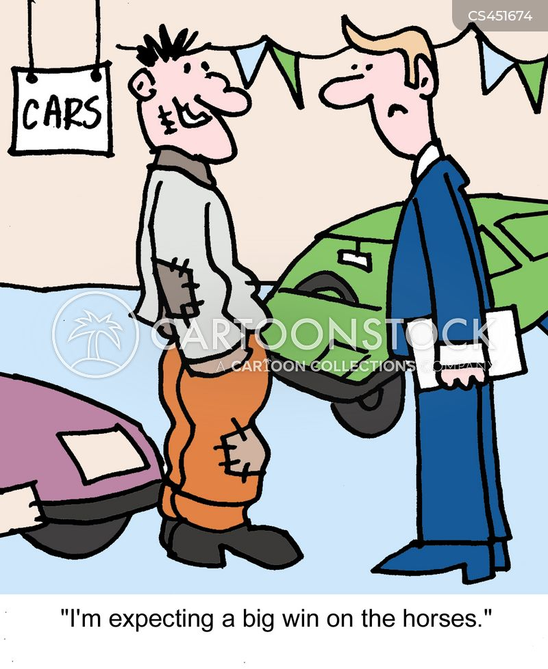 buying a car cartoon