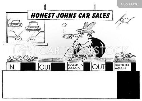 car showroom cartoon
