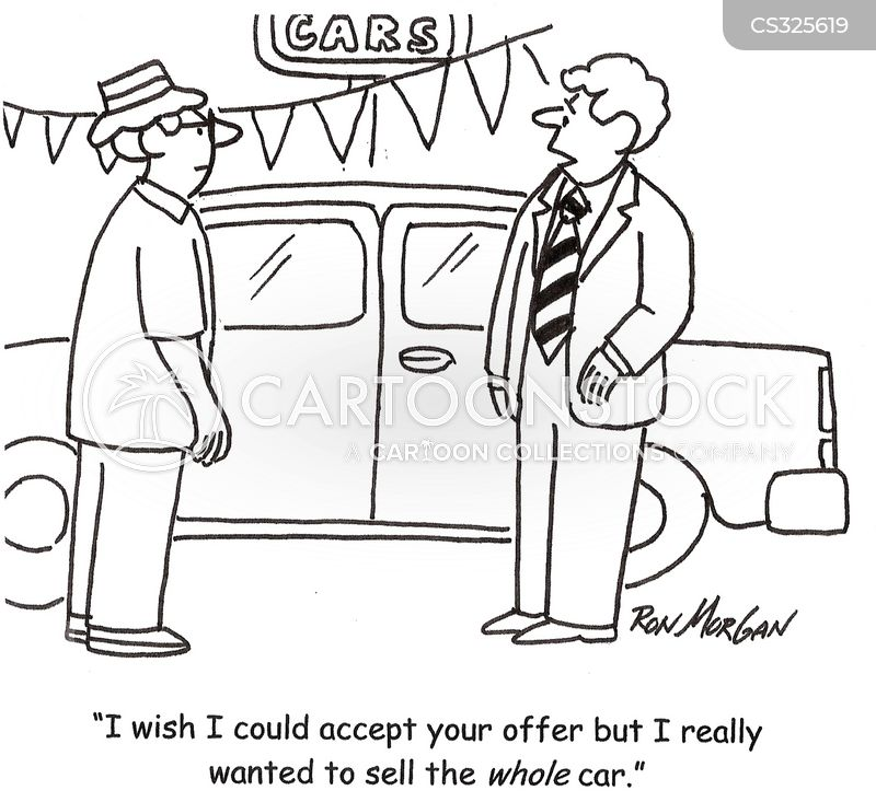 haggling cartoon