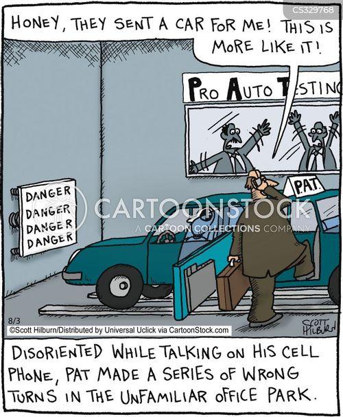 car test cartoon