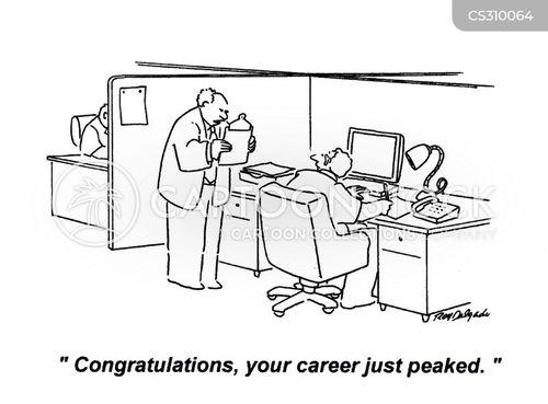 career peak cartoon
