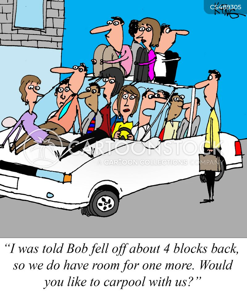 car-pooling cartoon