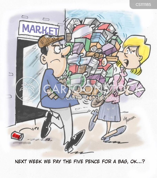 carrier bag cartoon