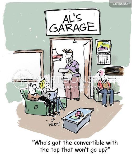 car shop cartoon