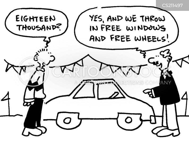 car deal cartoon