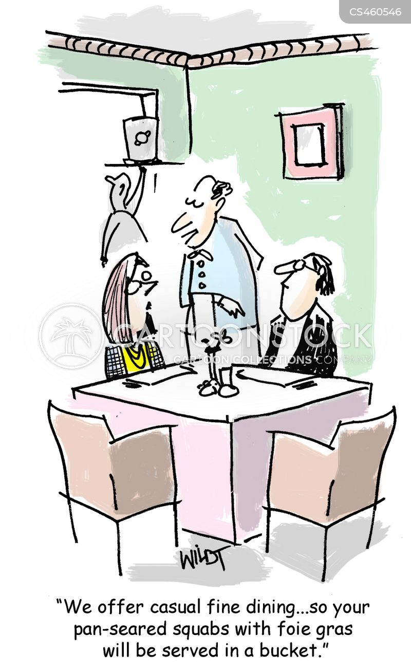 casual dining cartoon