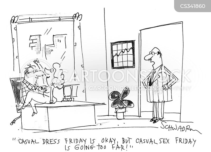 casual dress friday cartoon
