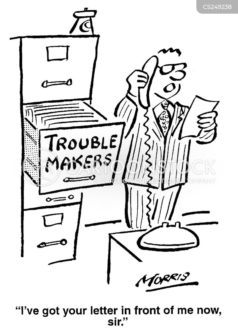 trouble-makers cartoon