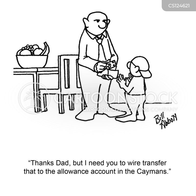bank transfer cartoons and comics