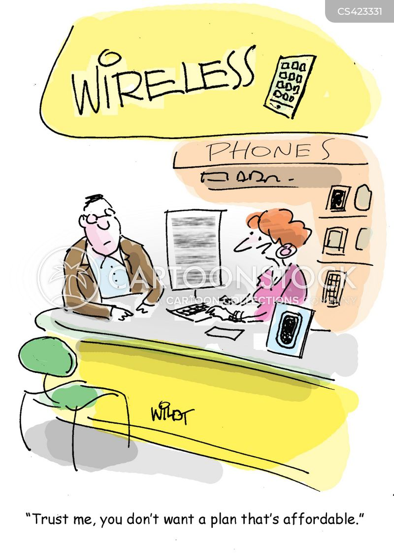 technology cost cartoon