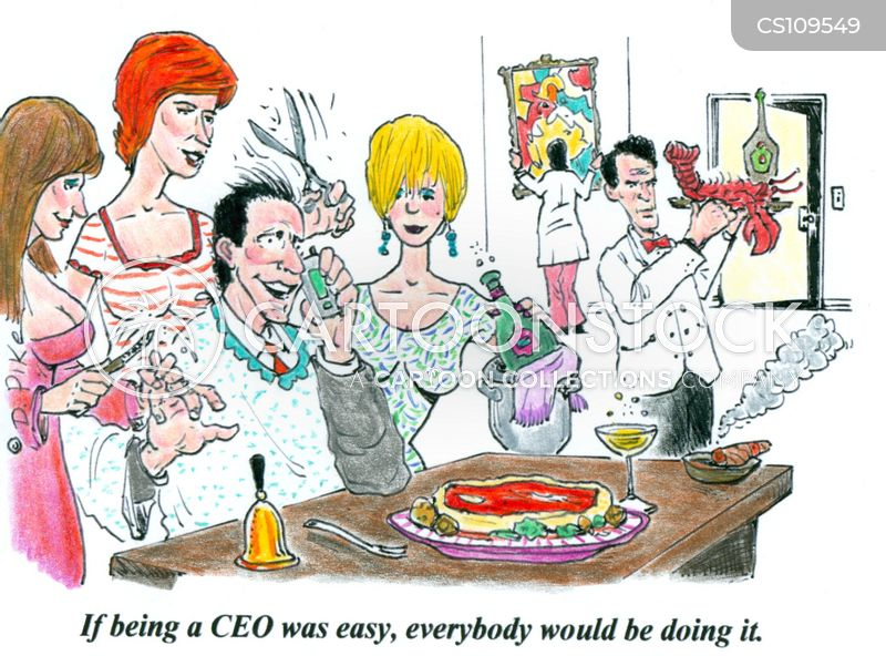 executive lifestyle cartoon