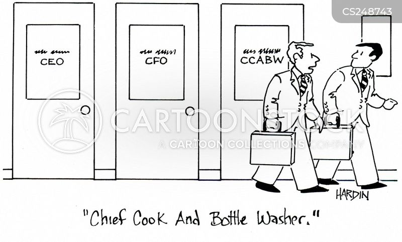 bottle washer cartoon