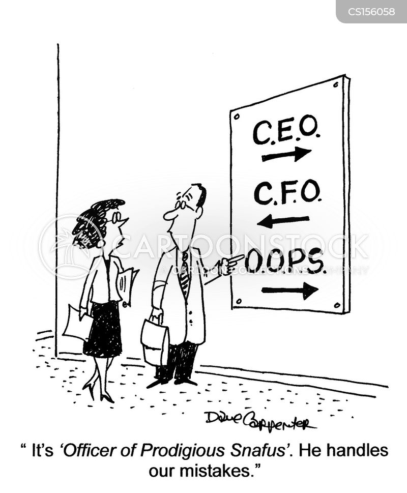Executive Cartoon: Chief Financial Officer Cartoons And Comics
