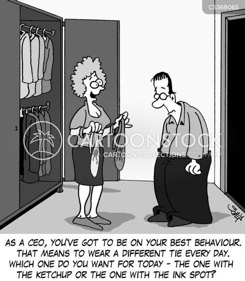 business dress cartoon