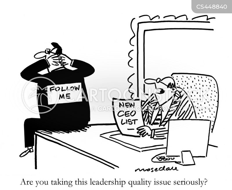 management roles cartoon