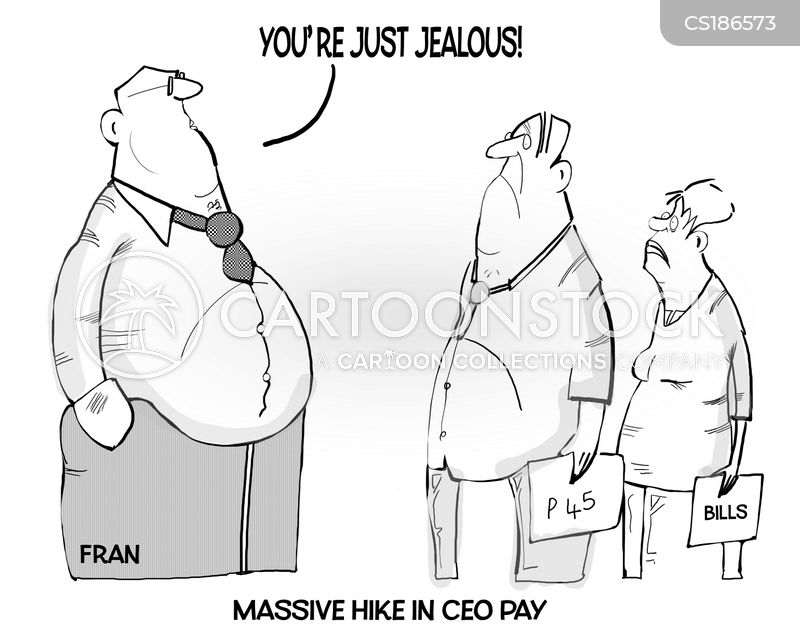 wage inequality cartoon