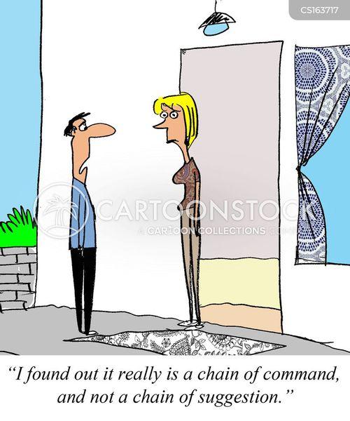 chain of command cartoon