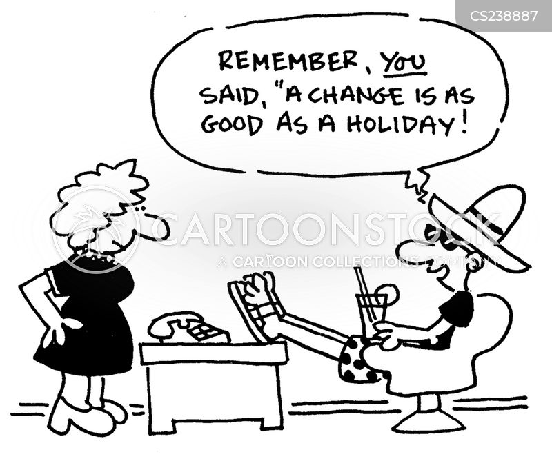 time off work cartoon