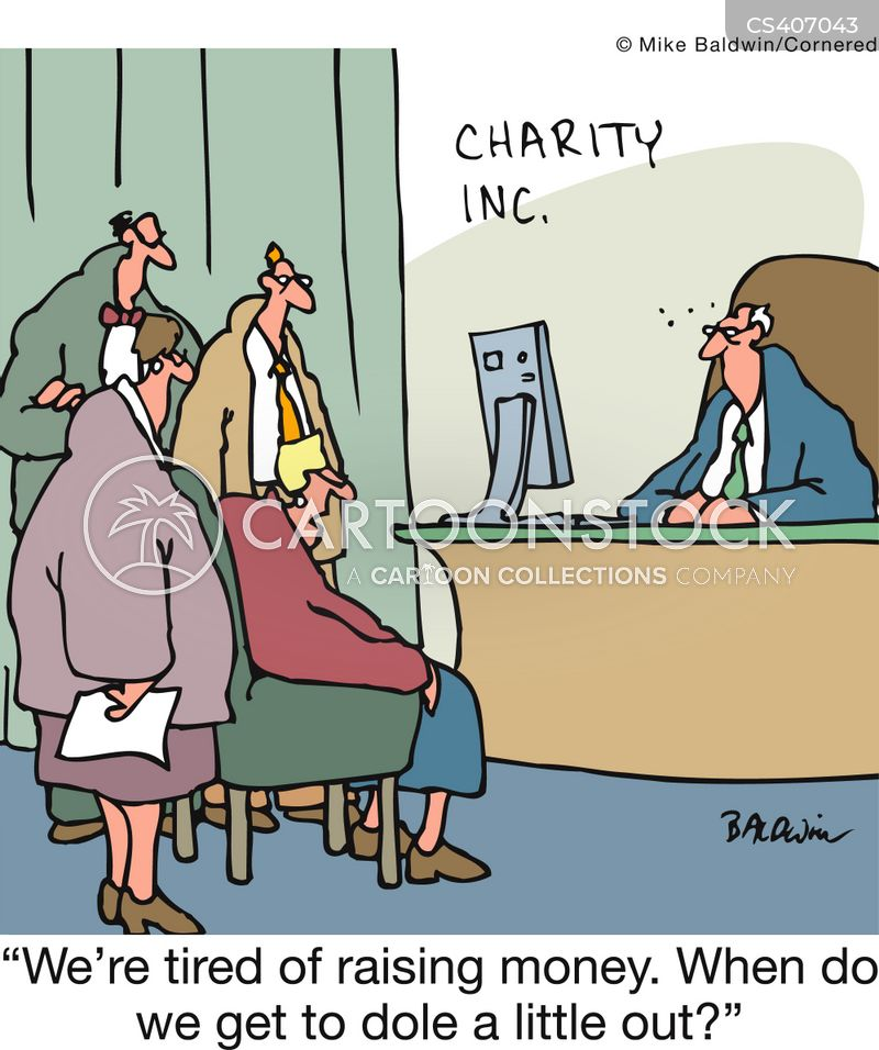 fund raiser cartoon