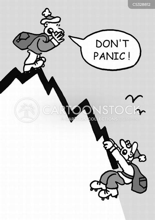 falling sales cartoon