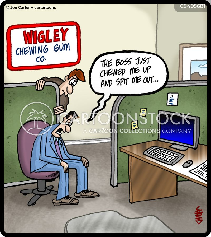 chewing gums cartoon