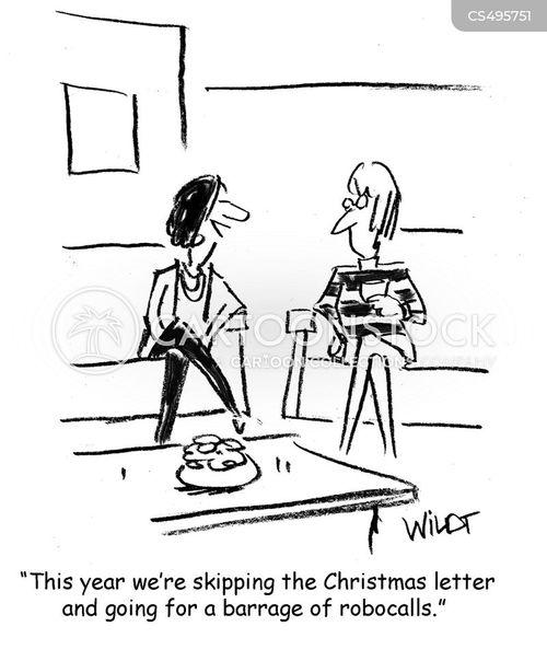 christmas letter cartoon