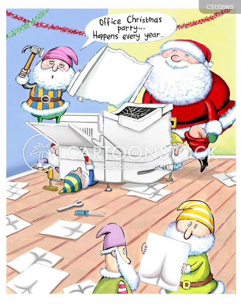 christmas parties cartoon