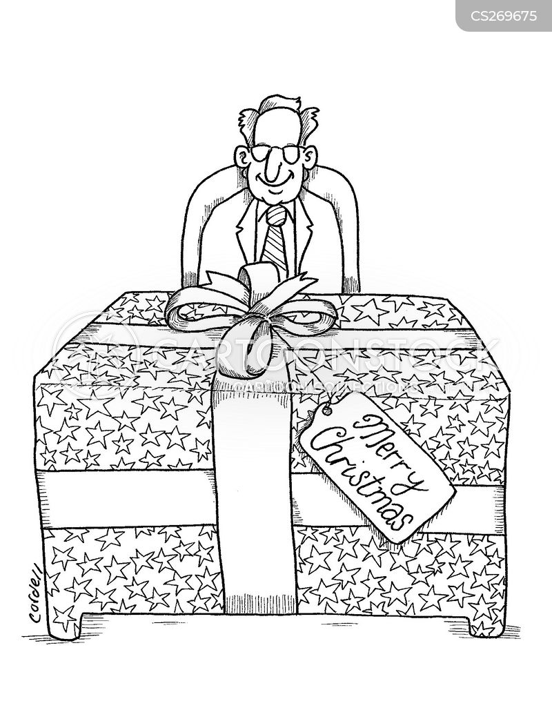 gift-wrapped cartoon