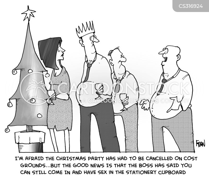 firm party cartoon