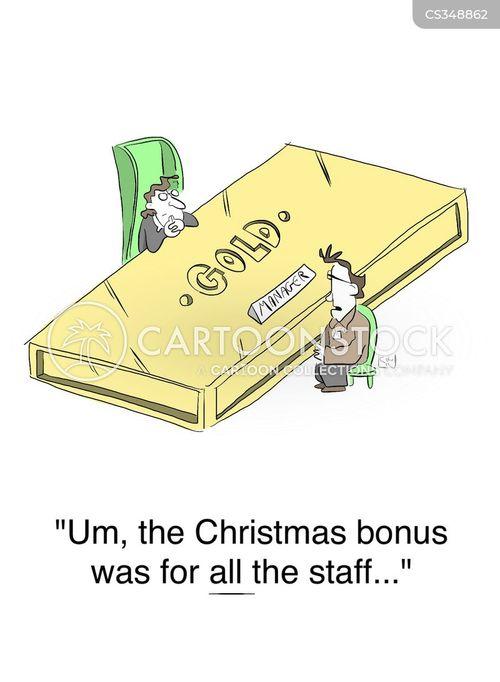 xmas bonuses cartoon