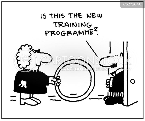 training programme cartoon