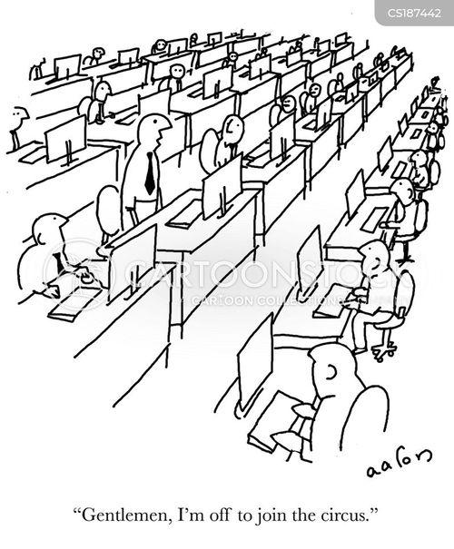 open plan cartoon