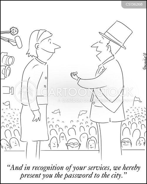 key to the city cartoon
