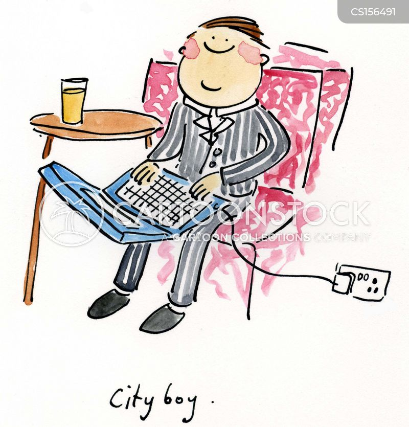 canary wharf cartoon